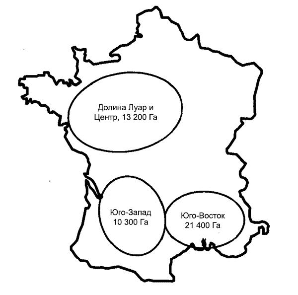 Садовые площади во Франции